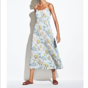 Vince. Marine Garden Pleated Cami Dress